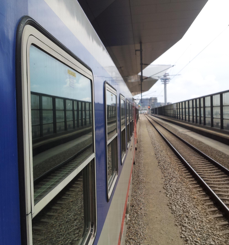aus dem Zug fotografiert