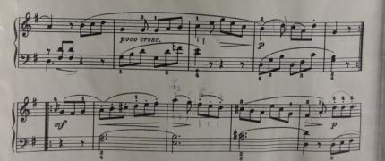 Musiknotenblatt