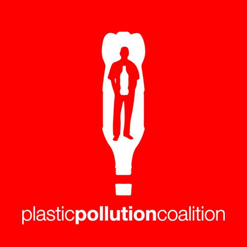 das logo zeigt graphisch eine plastikflasche, in der ein mann steht, in dem eine plastikflasche ist