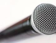 Großaufnahme eines Mikrofons