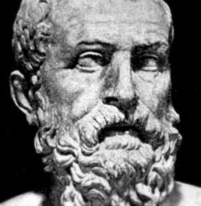 Steinkopf des Philosophen Solon