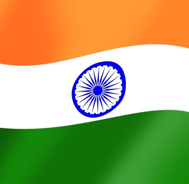 die Flagge von Indien