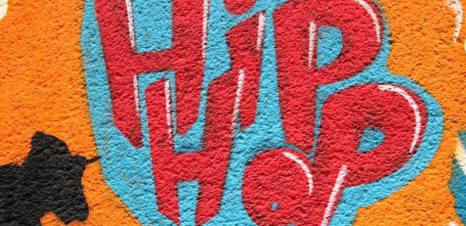 Graffitti mit Schriftzug Hip Hop