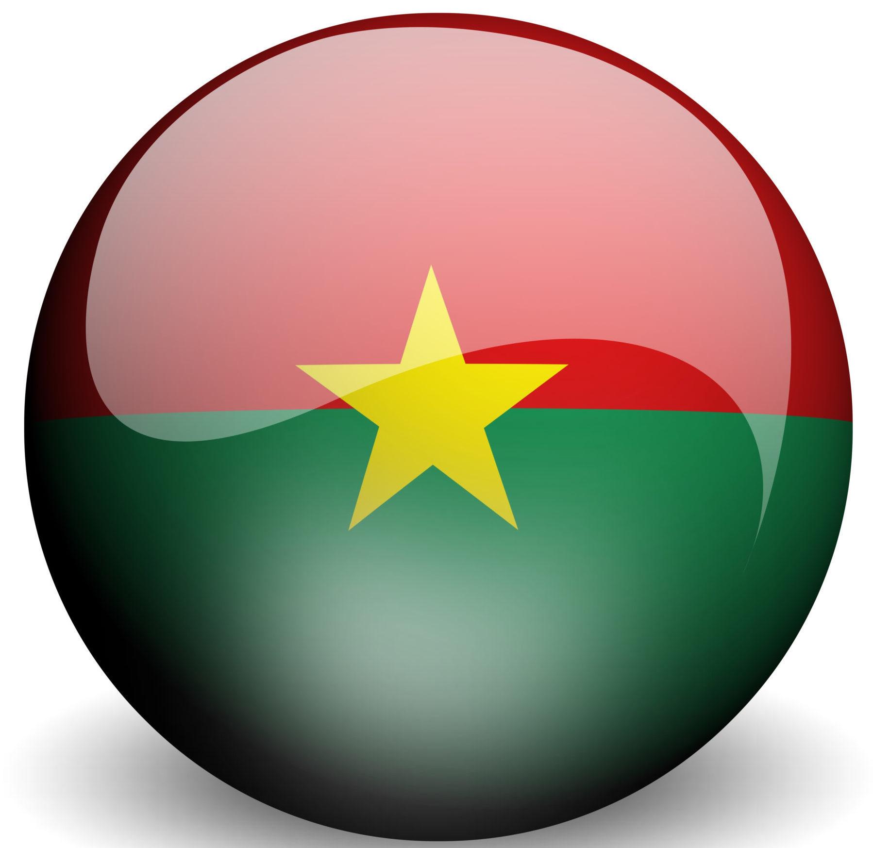 die Flagge von Burkina Faso im Yin Yang-Format