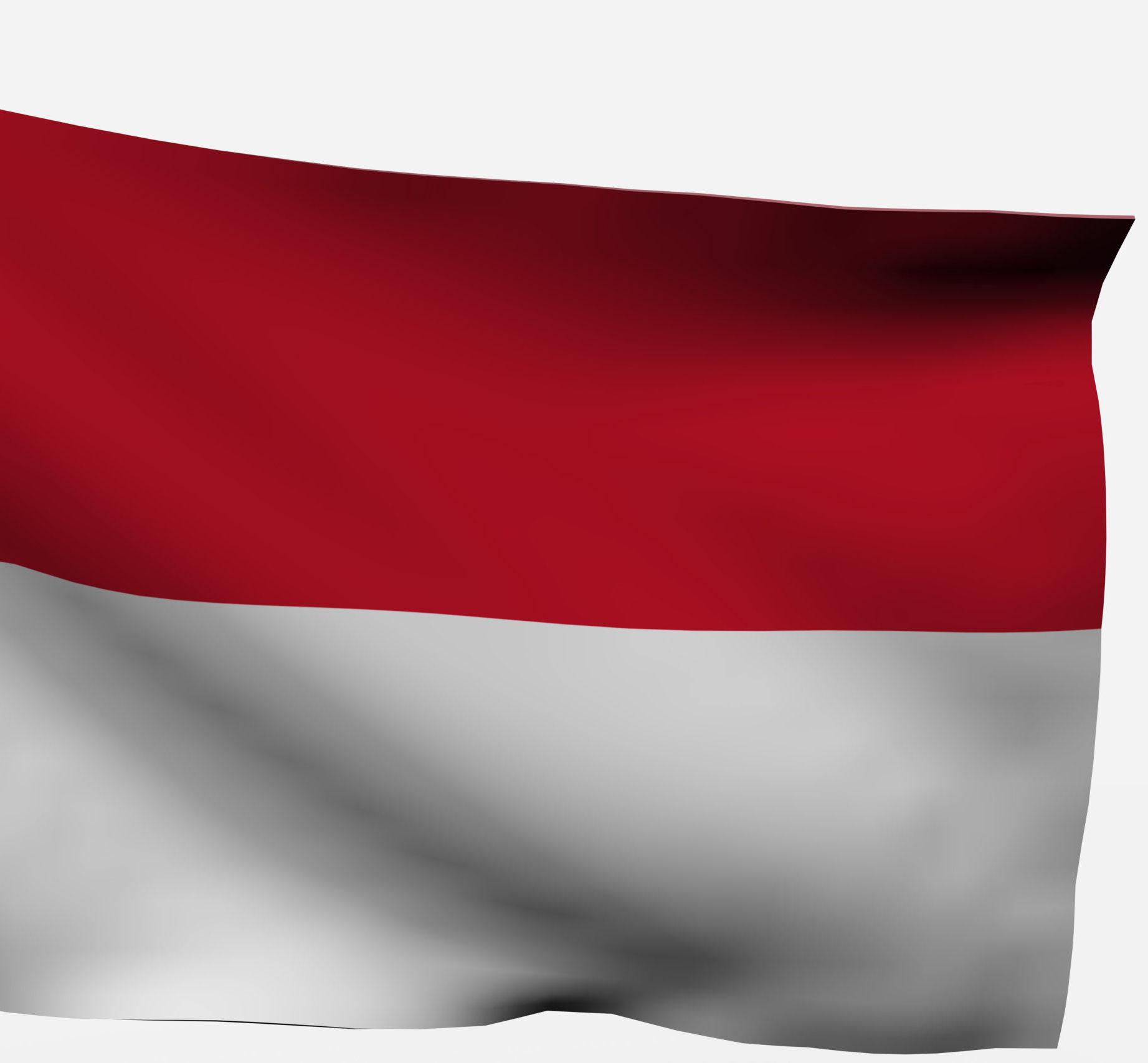 die rotweisse Flagge von Indonesien