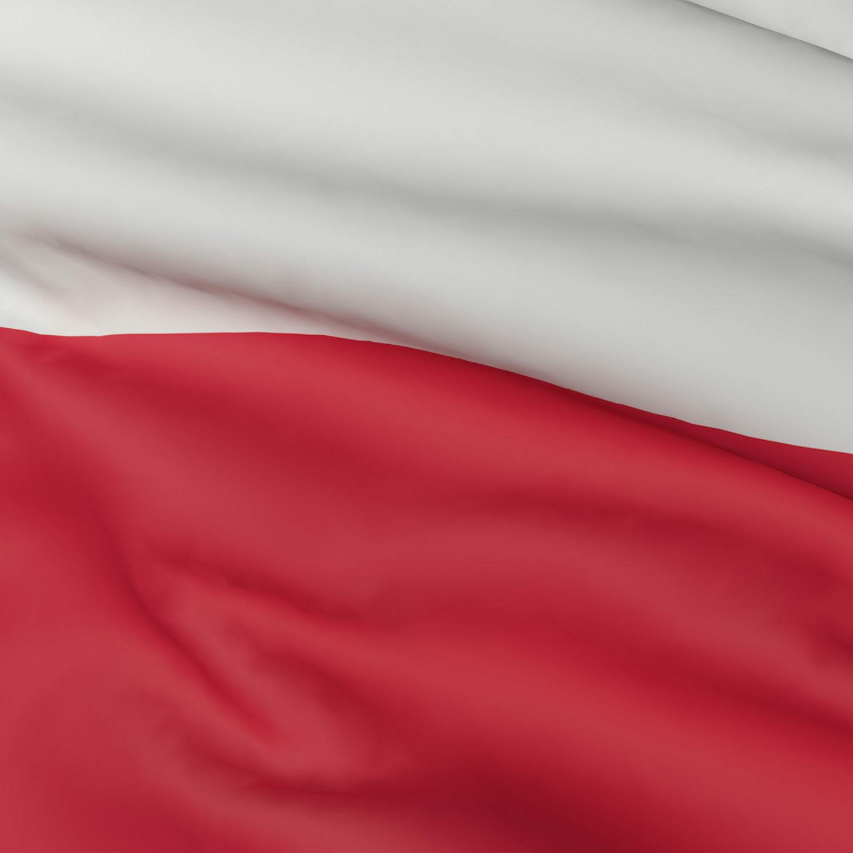 die polnische Fahne, weiss-rot